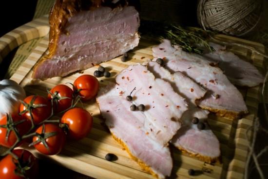 Копчёное филе свинины